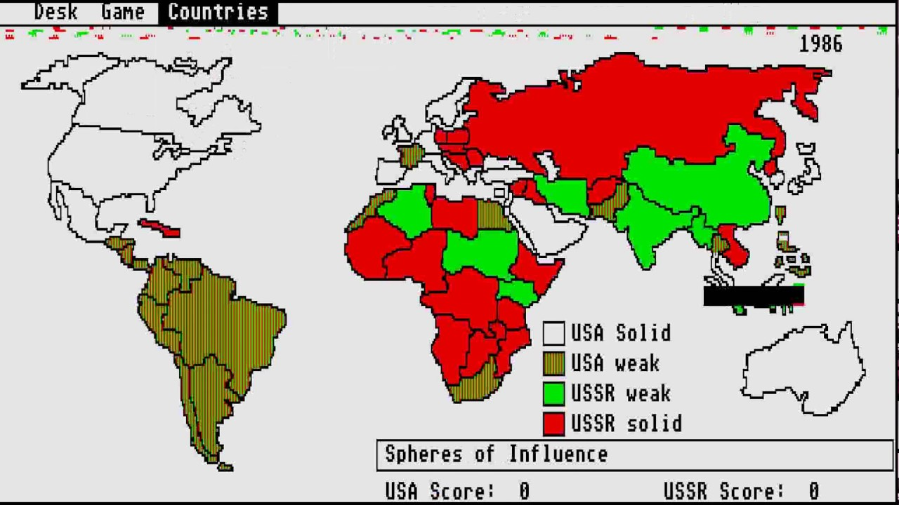 Atari St Balance Of Power Geopolitics In The Nuclear Age Youtube