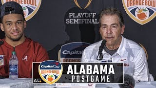 hear-what-nick-saban-alabama-players-had-to-say-following-the-tide-s-2018-cfp-semifinal-win