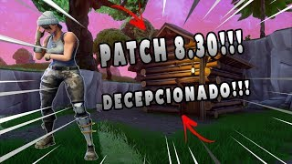 FIN DE FORTNITE ? MON OPINION!! À PROPOS DE PATCH 8.30!!!! Fortnite Bataille Royale