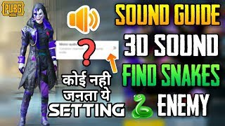 Gambar cover SOUND GUIDE ENABLE STEREO ( 3D SOUND ) - SPOT SNAKE ENEMIES EXACT LOCATION IN PUBGM SECRET SETTING