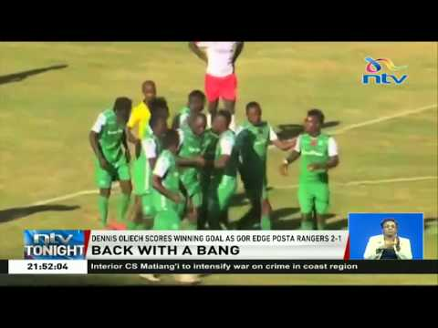 Dennis Oliech scores winning goal as Gor edge Posta Rangers 2-1