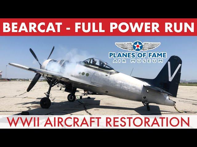 F8F BEARCAT Full Power Engine Ground Run  |  Planes of Fame