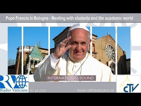 2017.10.01 - Pope Francis in Bologna - Meeting with students and the academic world