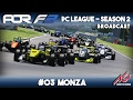 Assetto Corsa - AOR F3 PC League - Season 2 - Round 3 Monza (Edited Broadcast)
