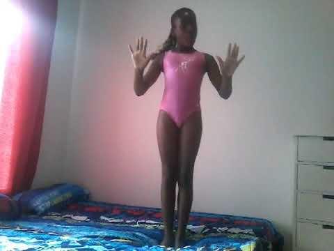 Gymnastics on a bed