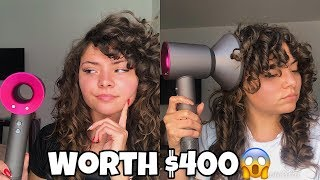 HOW TO DIFFUSE CURLY HAIR! DYS…