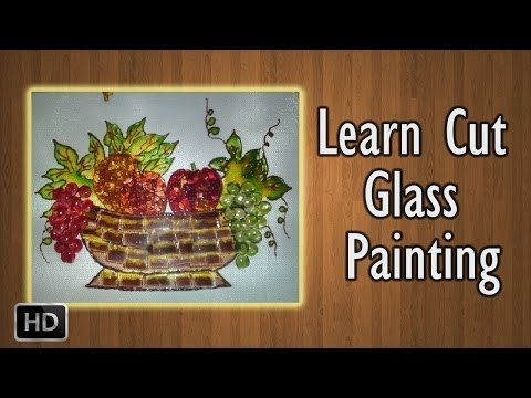 learn how to paint cut glass painting basic glass
