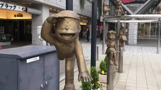 富山 高岡駅前のドラえもん像達  Doraemon statues of Toyama Takaoka station