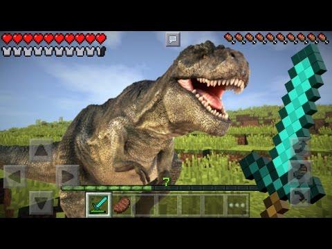 REALISTIC DINOSAURS IN MCPE | Minecraft PE - Addon Challenge