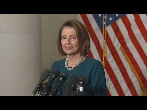 Nancy Pelosi. Addresses Media. House Democrat Leadership Elections. Nov. 30, 2016.