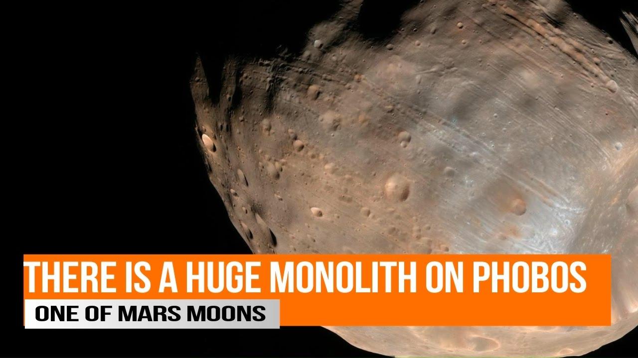 Huge Monolith on Phobos one of Mars Moons - YouTube