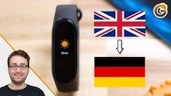 Xiaomi Mi Band 4: Sprache auf Deutsch umstellen