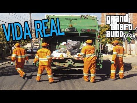 GTA 5: Vida Real - TRABALHANDO de LIXEIRO em LOS SANTOS - Poderia Ter no GTA 6