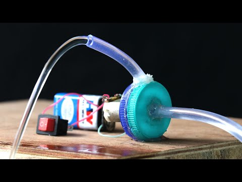 How to Make Electric Water Pump With DC Motor | Science Projects