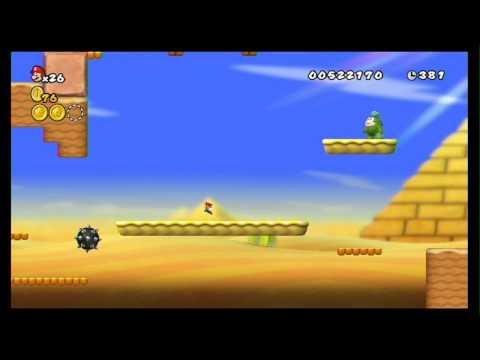 New Super Mario Bros. Wii 100% Walkthrough Part 3 - World 2 (2-1, 2-2, 2-3, 2-T) All Star Coins