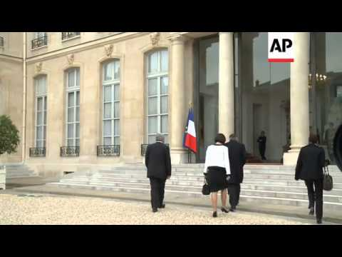 MINISTERS ARRIVE AT ELYSEE PALACE, CABINET MEETING WITH HOLLANDE
