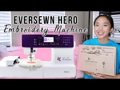 Setting Up NEW Embroidery Machine | EverSewn Hero (GIVEAWAY CLOSED)