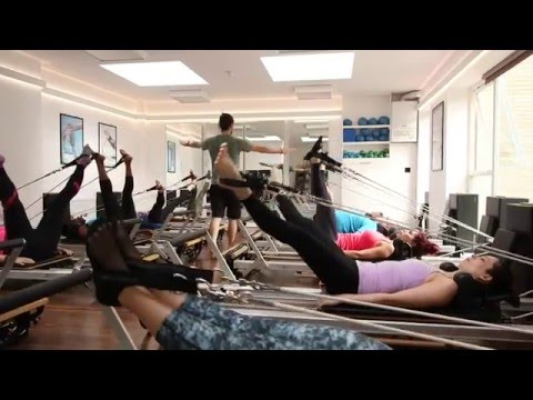 Group Reformer Pilates at Bamboo Fitness, Crystal Palace, London.