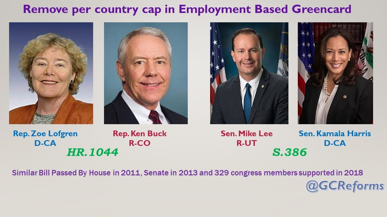 Lawmakers on Removing Country Cap in Employment Based Greencard