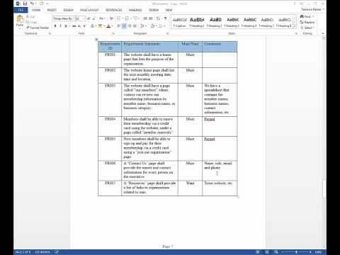 Business Requirements Document Overview
