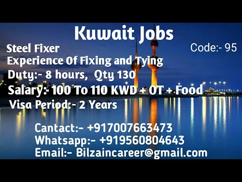 Kuwait Steel Fixer ( Fixing &Tying) Job For Indians