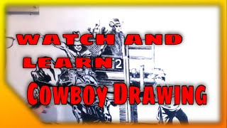 Rodeo for the Fastooning website speed drawing