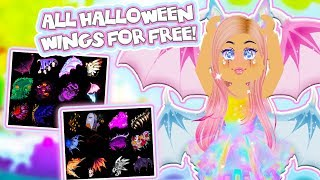 WIE ALLE NEUEN HALLOWEEN WINGS KOSTENLOS in Roblox Royale High School!