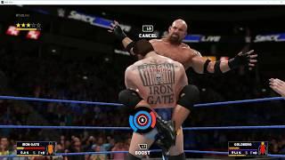 WWE 2K18 My Create : IRON GATE vs GOLDBERG アイアンゲート(鉄門)自分のクリエイトキャラです。