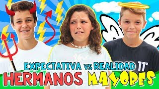 EXPECTATIVA vs REALIDAD de tener HERMANOS MAYORES 👧🏻¿Cómo son conmigo mis hermanos MATEO y HUGO? thumbnail