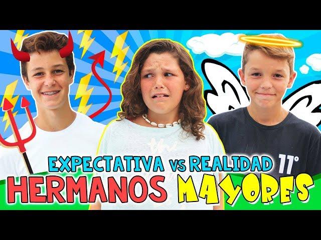 EXPECTATIVA vs REALIDAD de tener HERMANOS MAYORES 👧🏻¿Cómo son conmigo mis hermanos MATEO y HUGO?