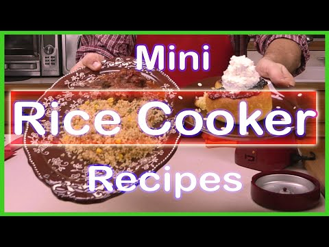 Quick and Easy Homemade Meatloaf, Cake, Brown Rice and Vegetables in a Wolfgang Puck Rice Cooker