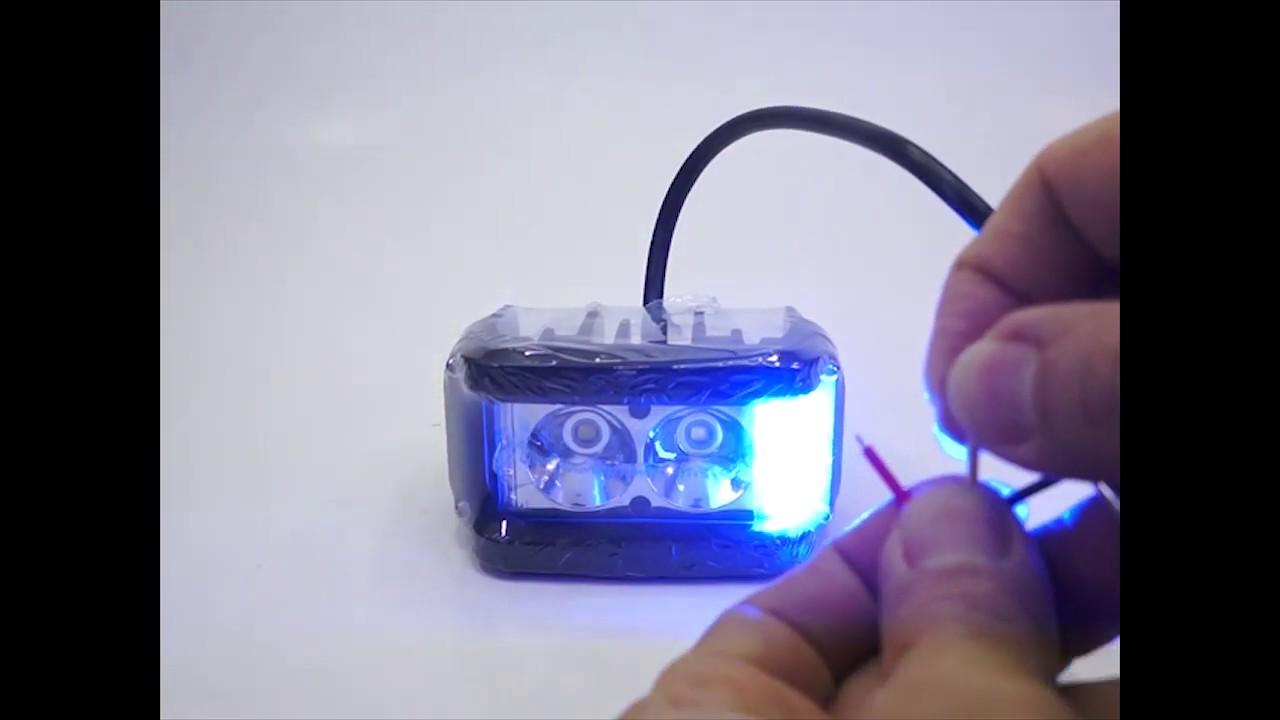 หลอดไฟสปอร์ตไลท์ ที่มีไฟฉุกเฉินสีฟ้าแดง 20 วัตต์