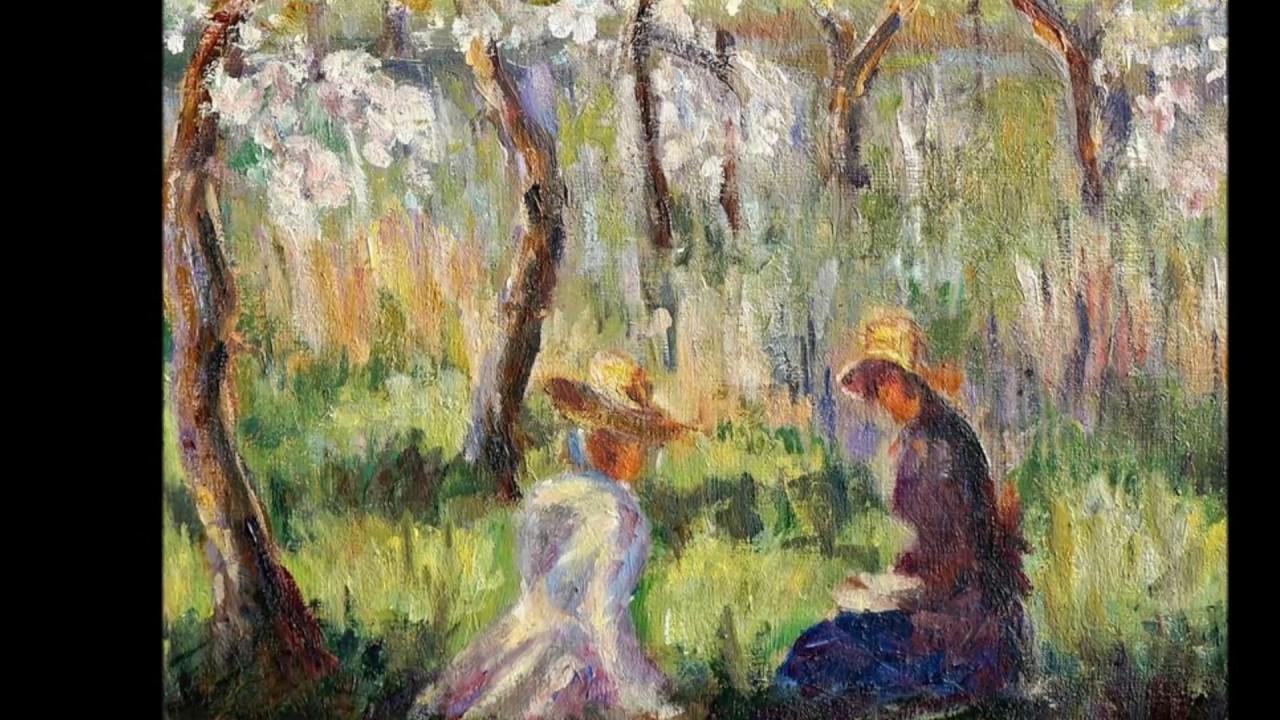 Обои Девушки в Саду, жанровая, картина, Клод Моне. Разное foto 15