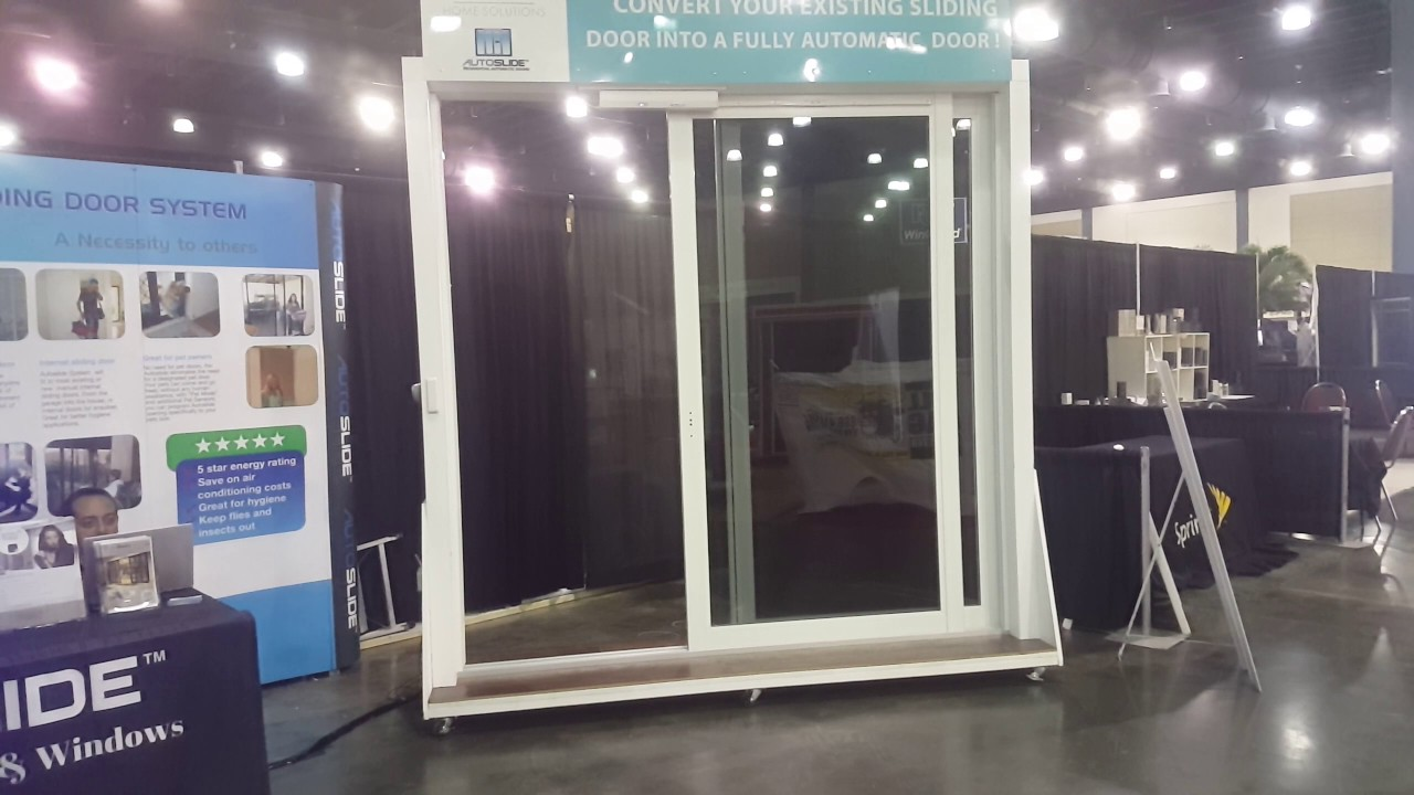 Automatic Sliding Door Opener For Impact Glass Doors Youtube