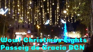 Luces de Navidad Barcelona | Christmas Lights Paseo De Gracia Spain