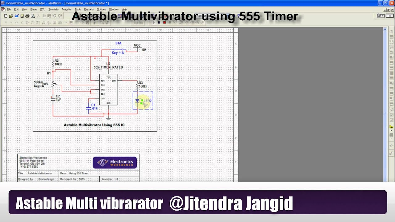 Astable Multi Vibrator For Square Wave Generation Using