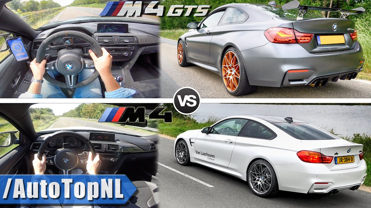 BMW M4 vs M4 Competition vs M4 GTS | 100-250km/h & SOUND by AutoTopNL