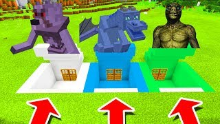 Minecraft PE : DO NOT CHOOSE THE WRONG SECRET BASE! (Mutant Wolf, Water Dragon & Reptilian)