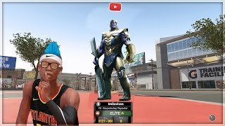 I used a voice changer as THANOS on NBA 2K19 My Park. Avengers End game thanos