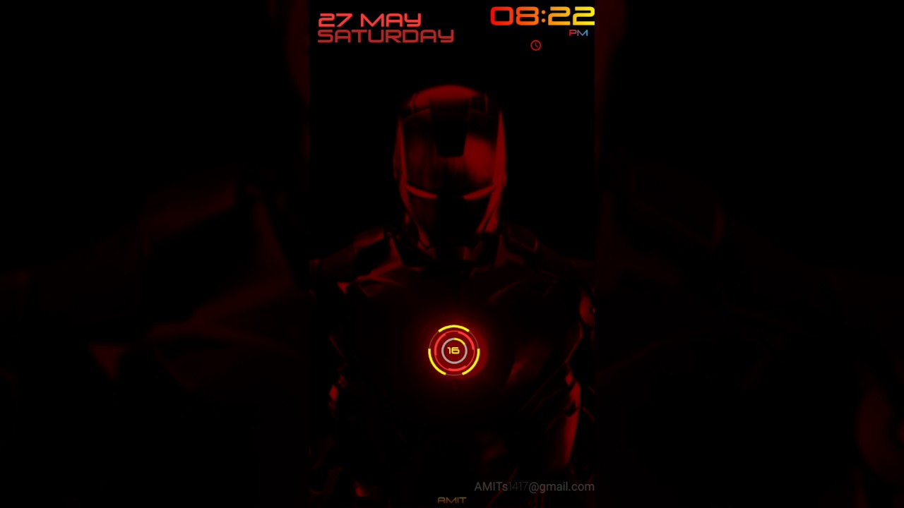 Ironman Live Wallpaper For Android KLWP Amits1417