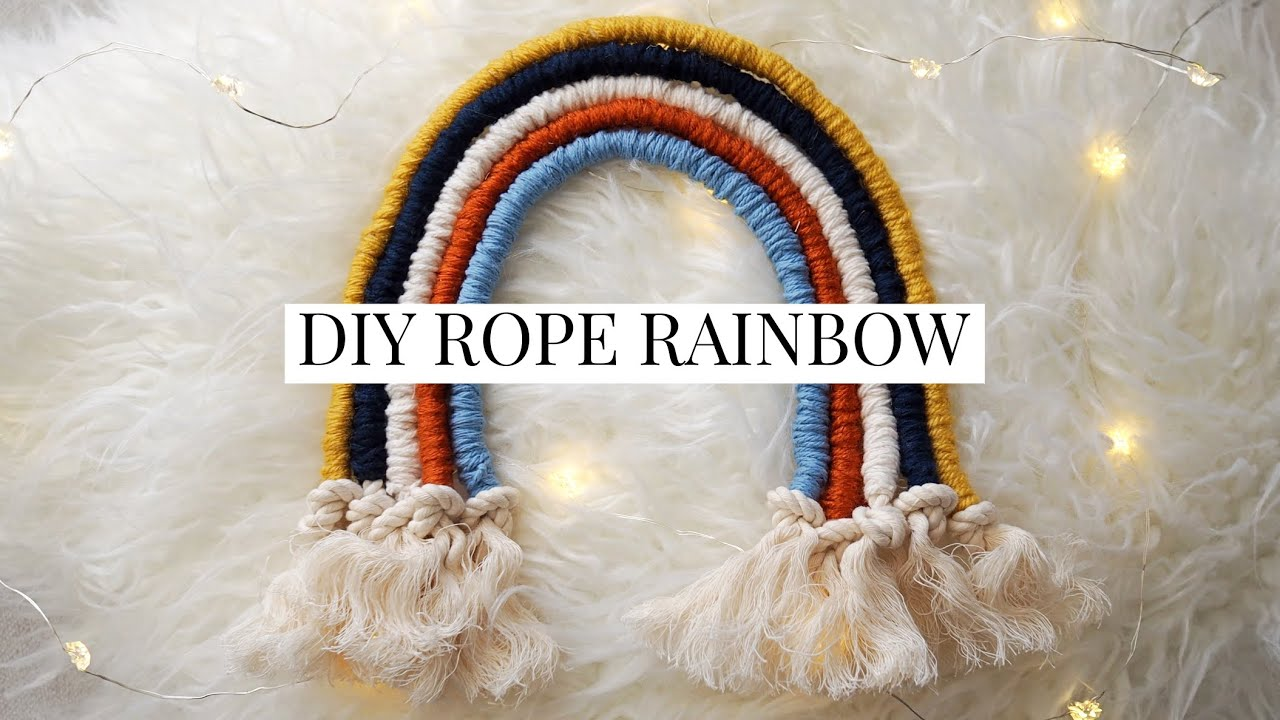 Rainbow Wall Hanging Rope Rainbow Diy Youtube