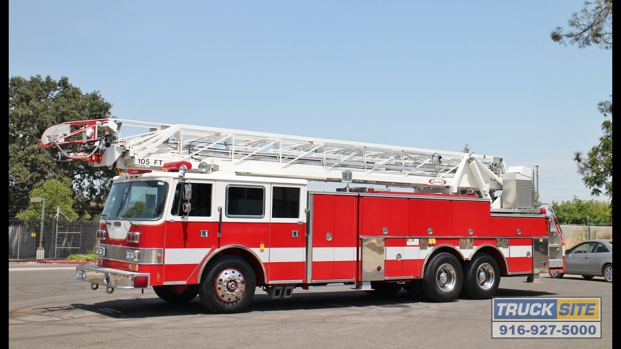 Honda Fort Pierce >> 1991 Pierce Arrow 105' Ladder Truck for sale by Truck Site - YouTube