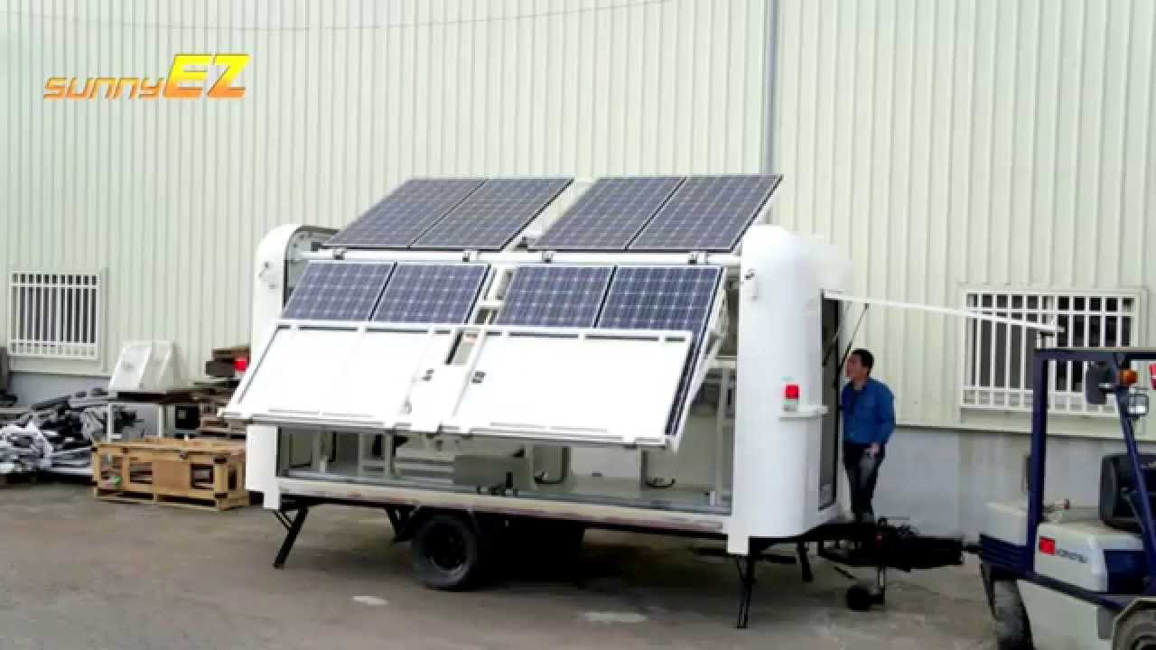 Mobile Solar Power Station Off Grid Or Grid Tied Youtube