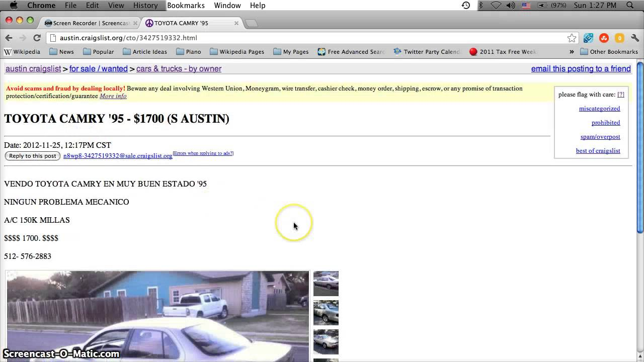Craigslist Austin Used Cars for Sale by Owner - Cheap ...