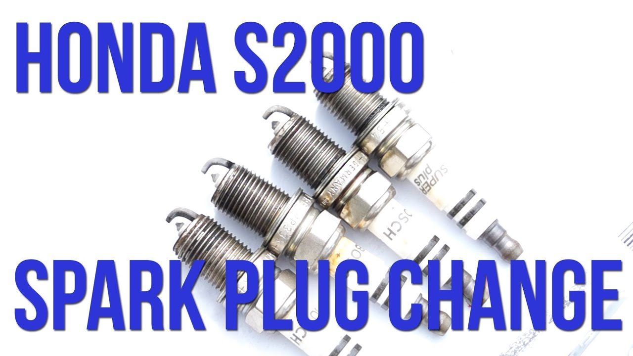 Honda S2000 NGK Spark Plug Change Tutorial - YouTube