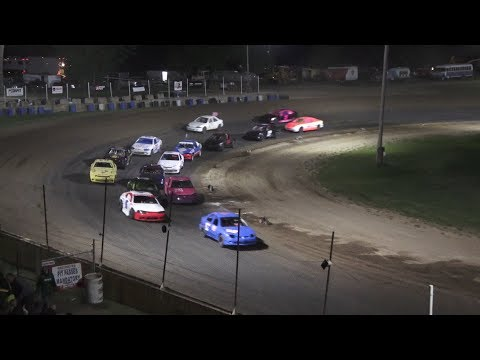 A Feature 1 (15 Laps): 11B-James Bannister, 63-Rusty Sowles, 60-Matt Taylor, 42G-Draven Grosvenor, 00-Mike Currier, 17D-Mike Dexter, 2-Brad Hall, ... - dirt track racing video image