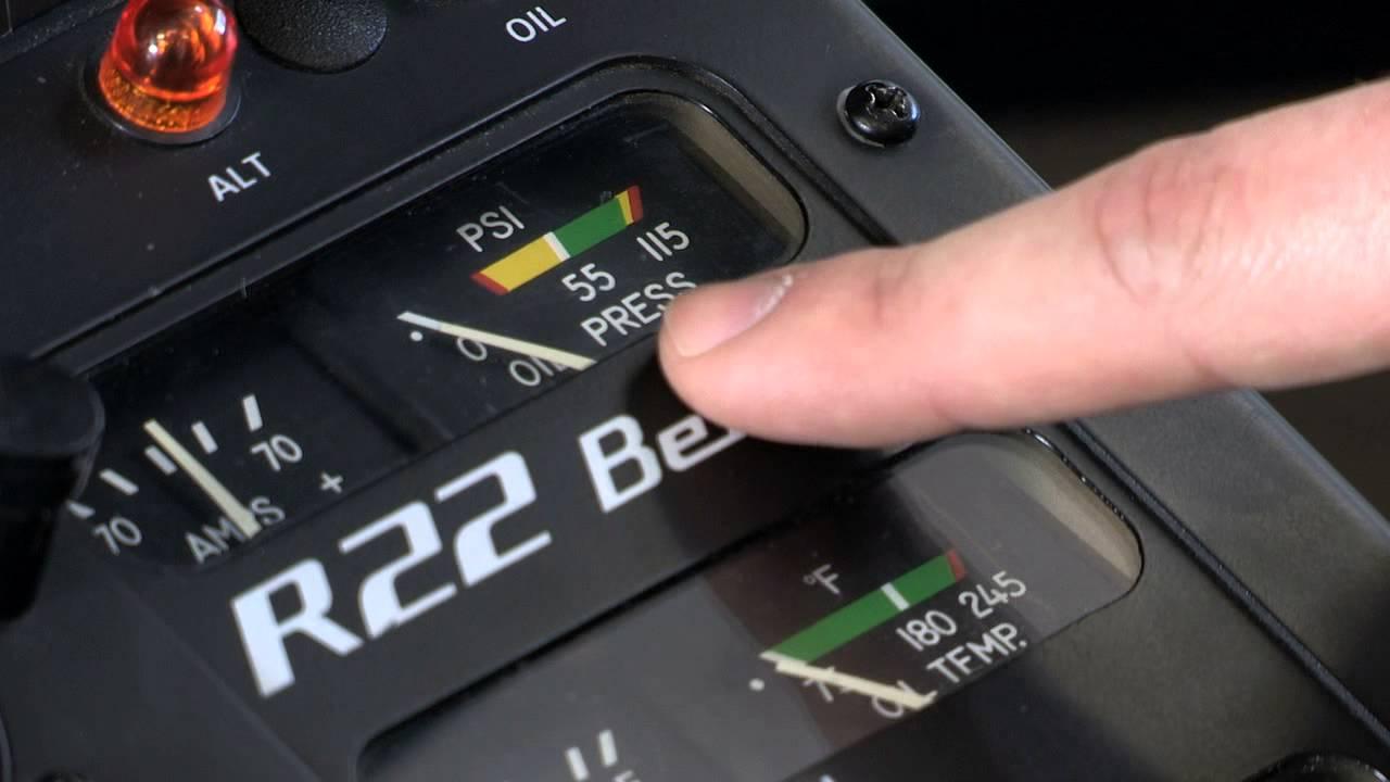 R22 - Oil Pressure Gauge