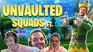 Unvaulted LTM Squads w/ Ninja, BasciallyIDoWrk, & Courage! - MoNsTcR (Fortnite Battle Royale)