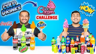 COLD DRINKS ICE CREAM CONE CHALLENGE | Ice Cream Eating Competition | Viwa Food World