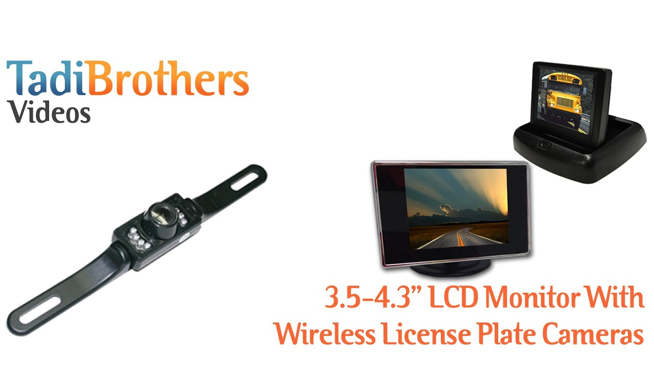 Aftermarket Wireless License Plate Backup Camera System with Small ...